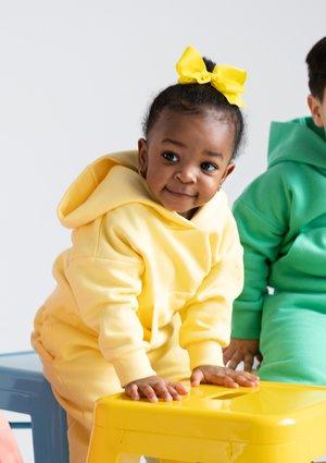 Dziecięca bluza  z kapturem Sour Yellow