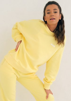 Mum Simple Sweatshirt Sour Yellow