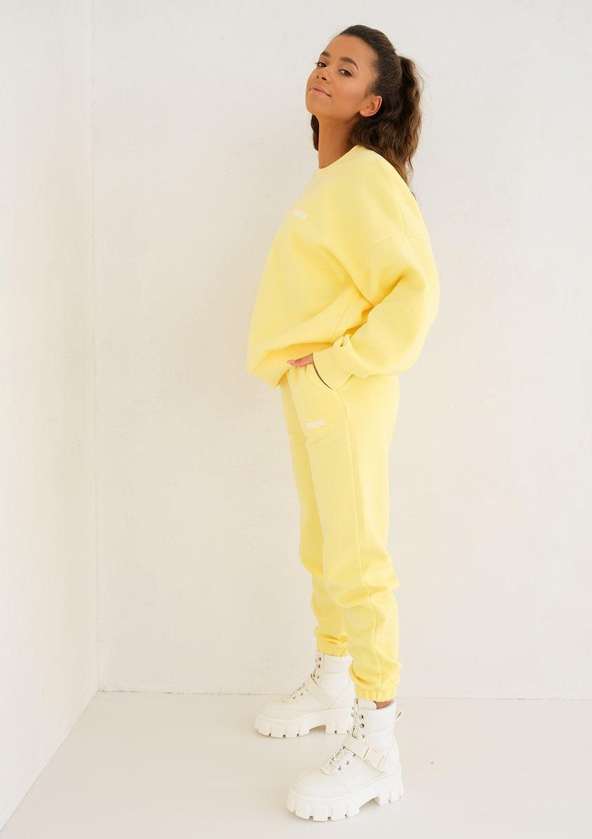 Mum Simple Sweatshirt Sour Yellow