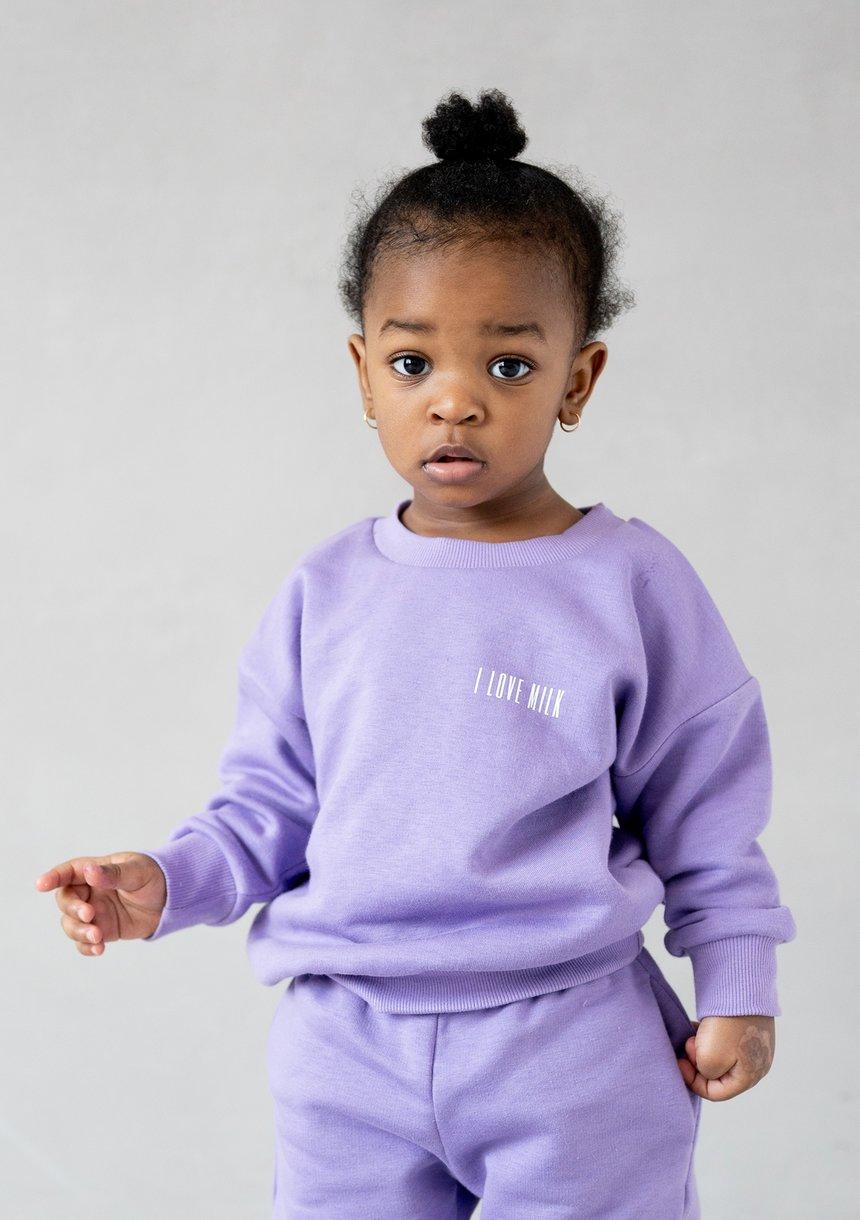 Kids Simple Sweatshirt Grape Fruit