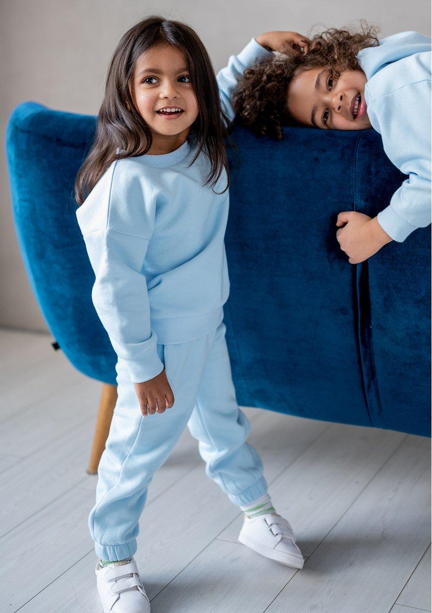 Kids simple sweatshirt Baby Blue