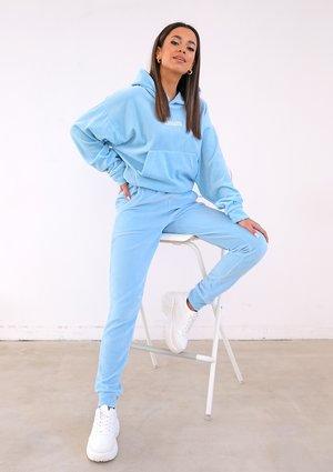 Damskie welurowe spodnie w kolorze Błękitnym ILM