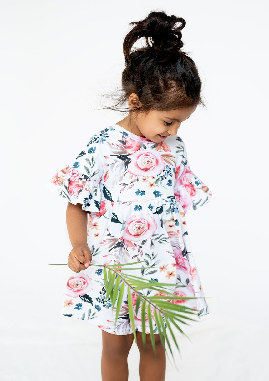 DRESS SPRING FLOWER PRINT