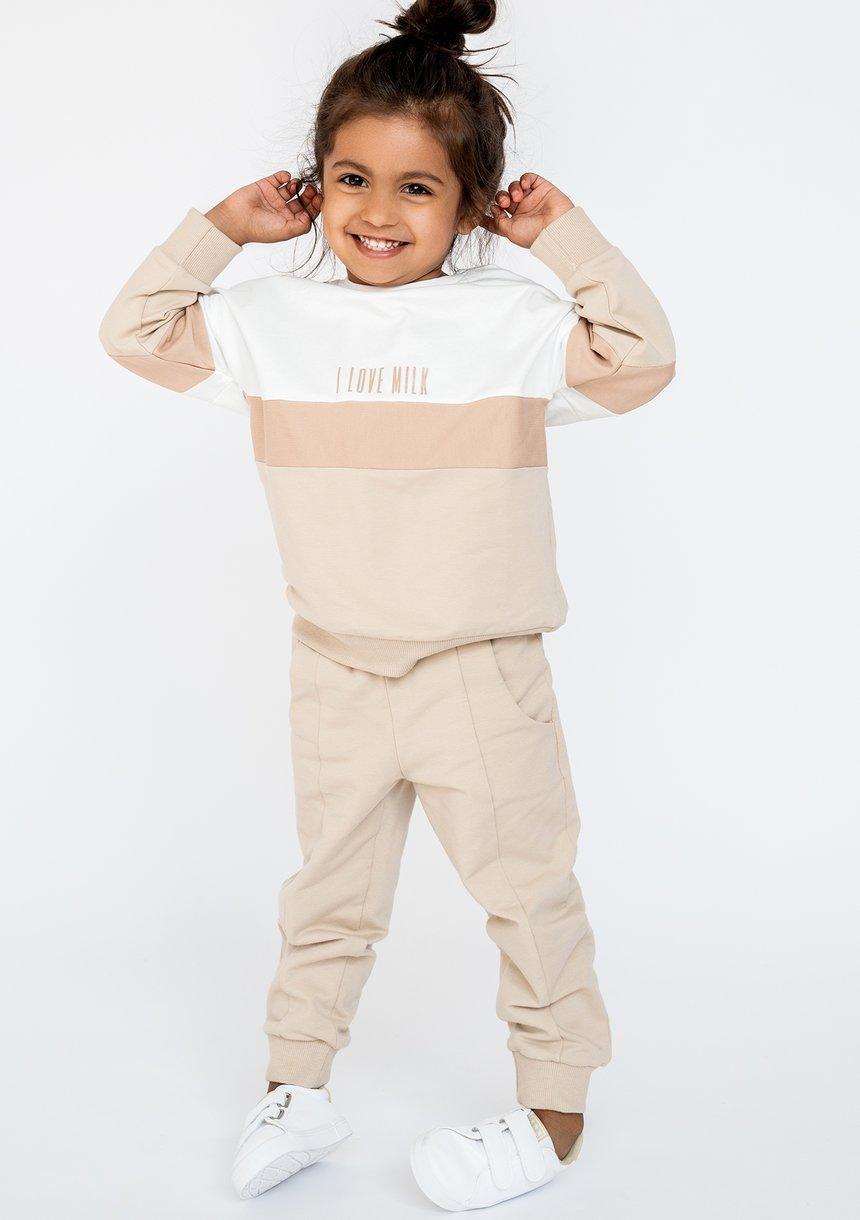 Spodnie dziecięce bawełniane Pastel Beżowe