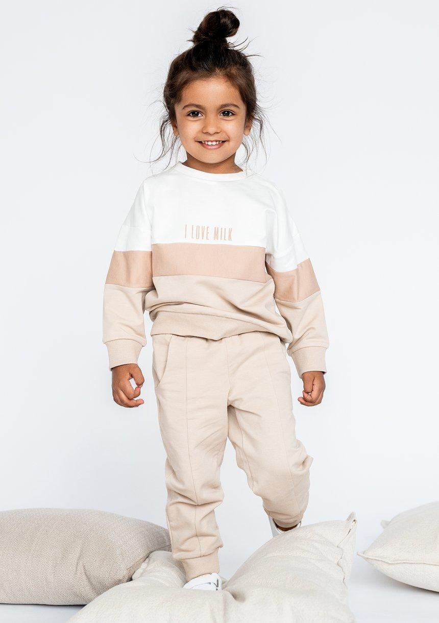 Bluza dziecięca ze wstawką Nude