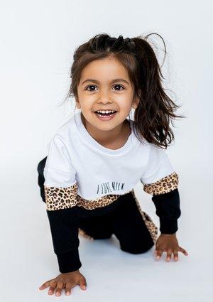 Bluza ze wstawką leopard