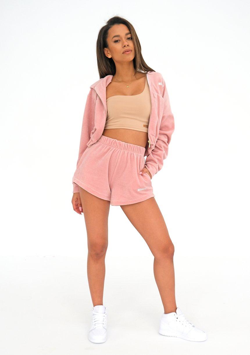 Women velvet shorts Mellow Rose