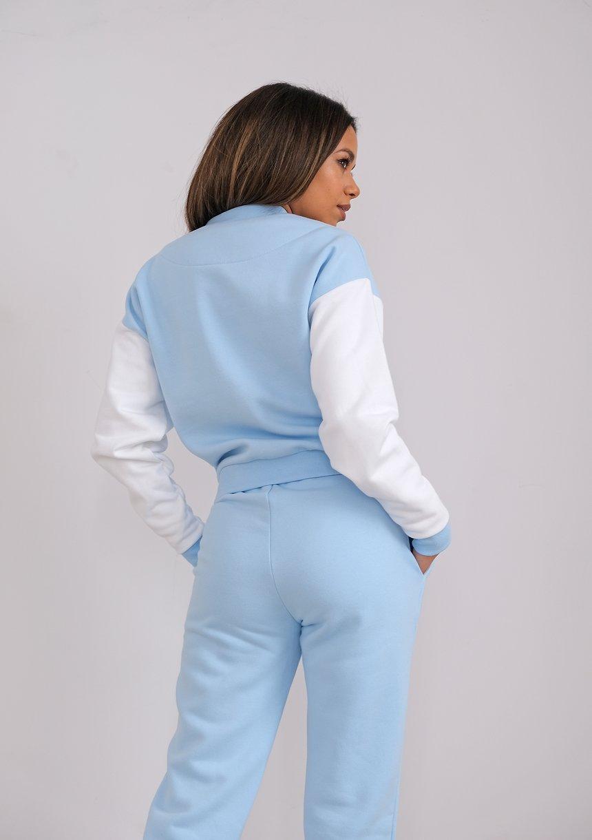 Women bomber sweatshirt Baby Blue