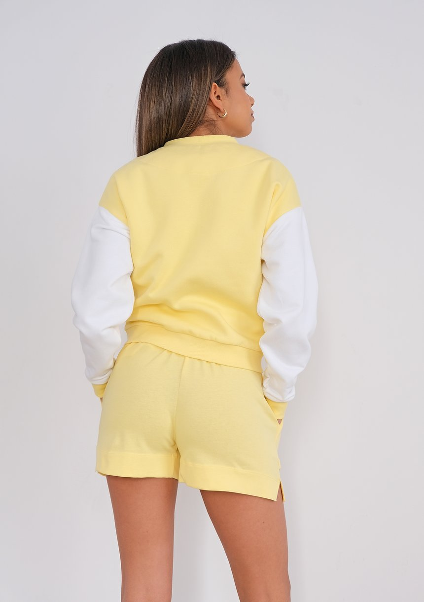 Women bomber sweatshirt Sour Yellow