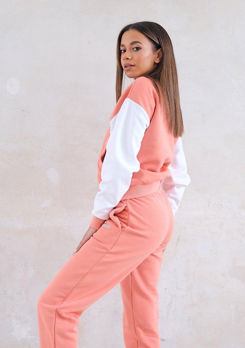 Women bomber sweatshirt Coral Blush