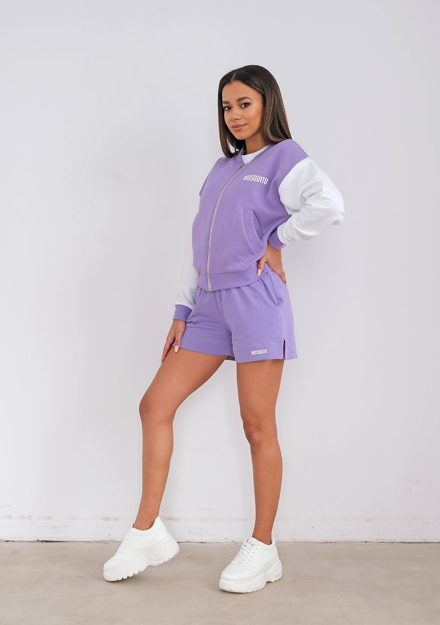 Women bomber sweatshirt Grape Fruit