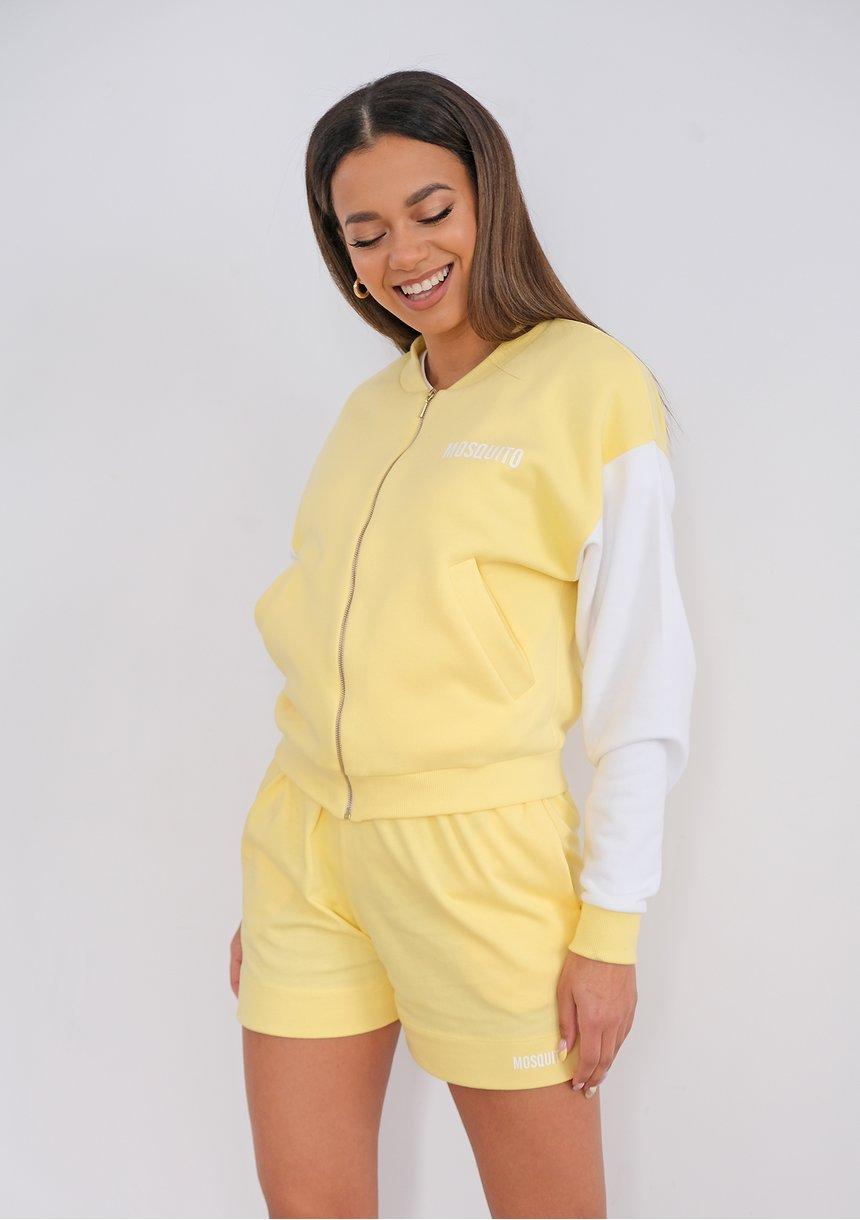 Women shorts Sour Yellow