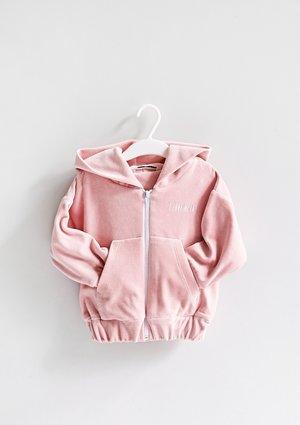 Girls velvet sweatshirt with a zipper closure Mellow Rose