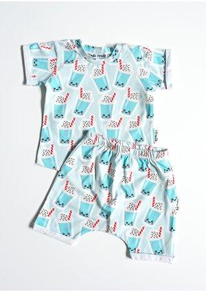 "Short sleeves set ""milkshake''"