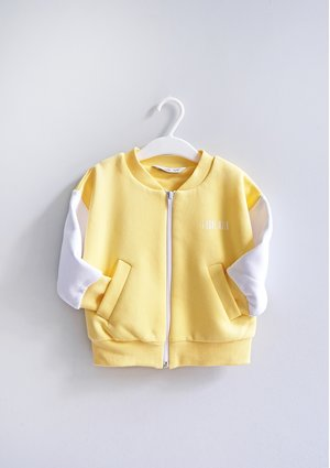 Kids bomber sweatshirt Sour Yellow