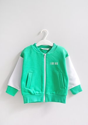 Kids bomber sweatshirt Lush Green