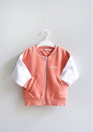 Kids bomber sweatshirt Coral Blush