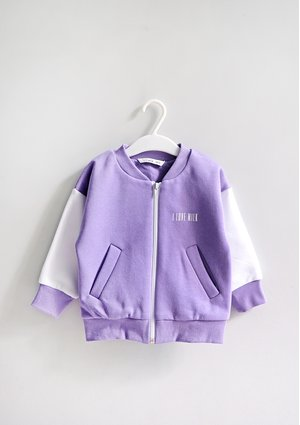 Kids bomber sweatshirt Grape Fruit