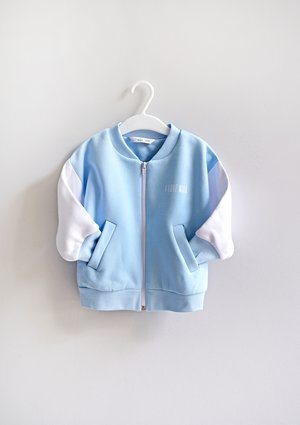 Kids bomber sweatshirt Baby Blue
