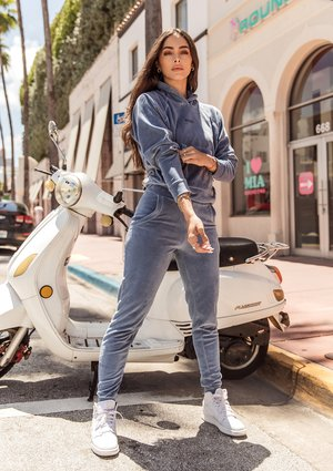 Velvet sweatpants Jeans Blue