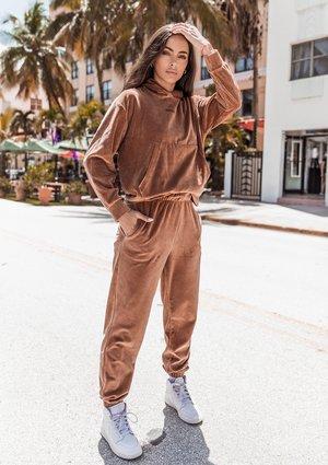 Spodnie welurowe Toffee ILM