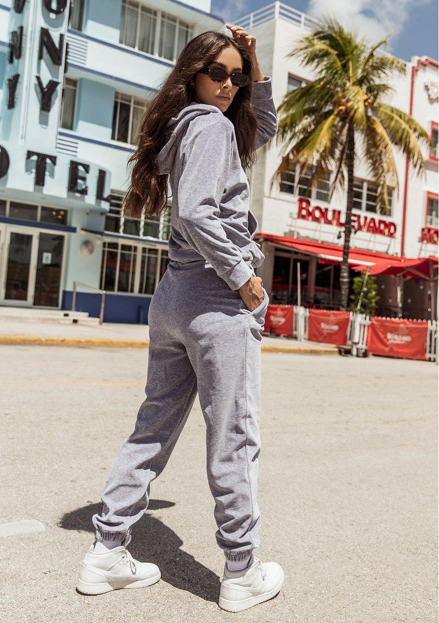 Velvet hoodie Melange