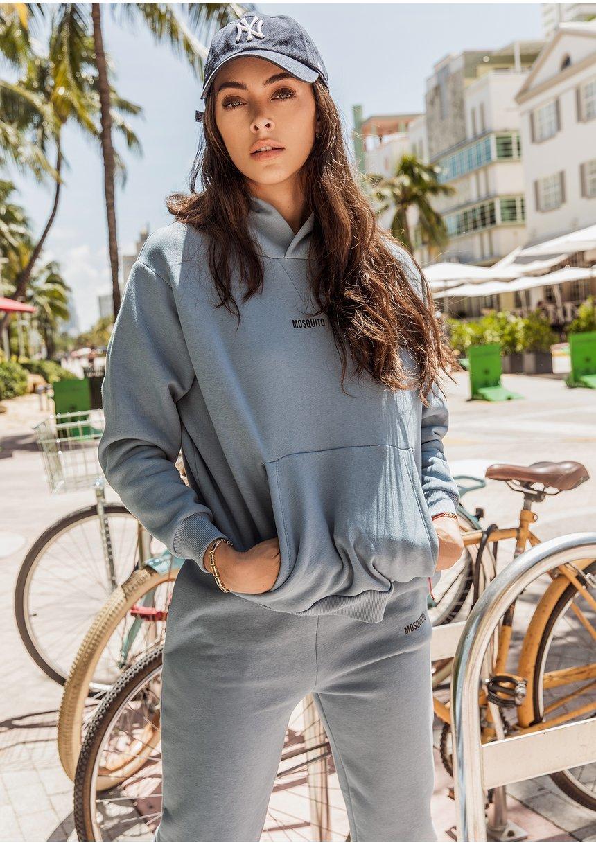 Women's hoodie Faded Denim