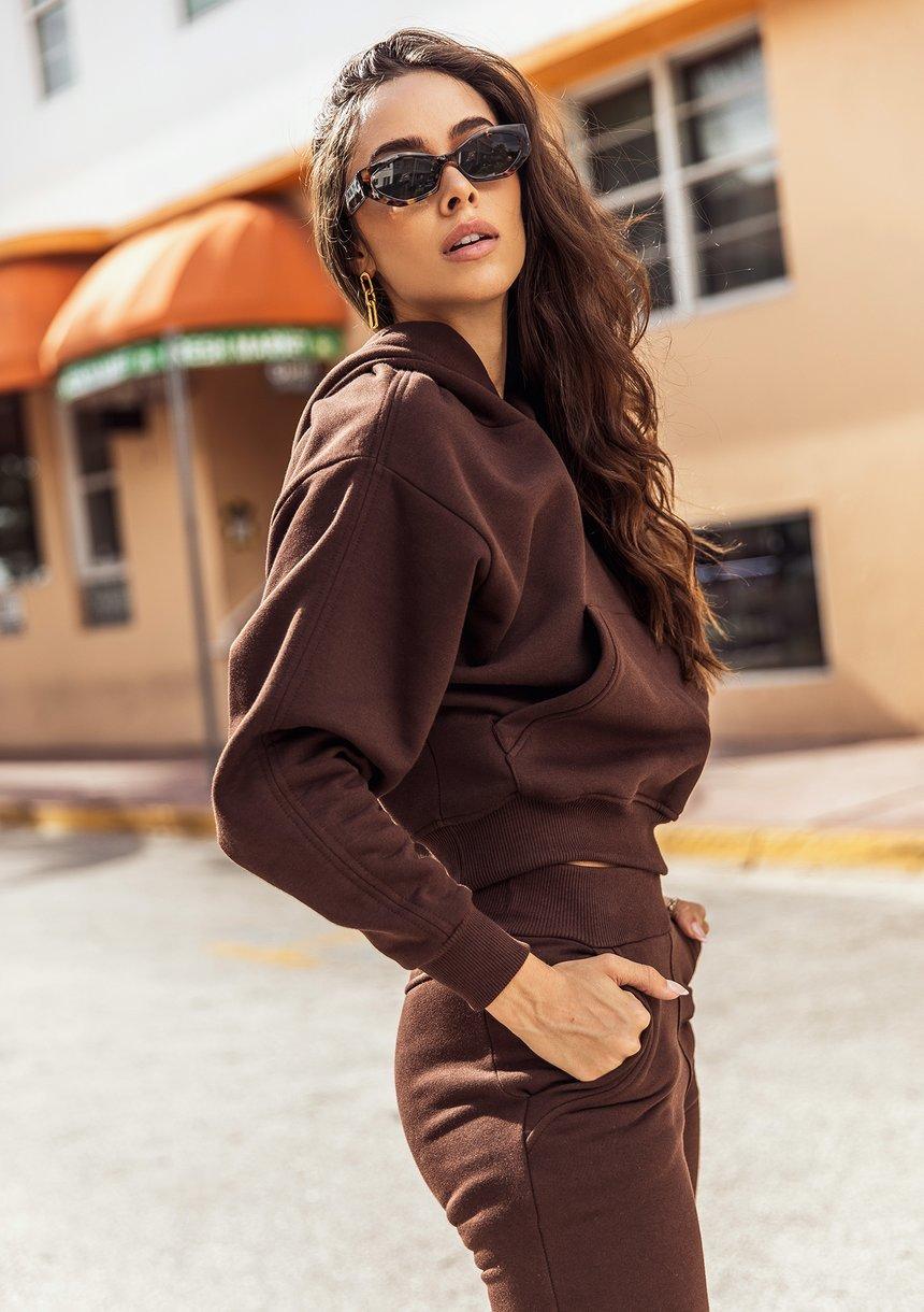 Women's hoodie Dark Brown