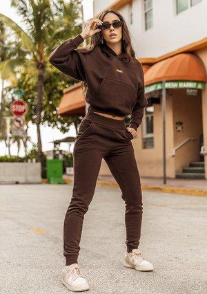 Women's sweatpants Dark Brown ILM