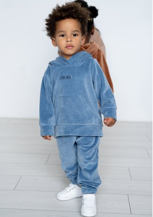 Kids velvet sweatpants Jeans Blue