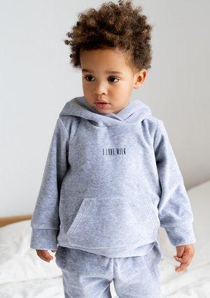 Dziecięca bluza welurowa z kapturem Melange ILM