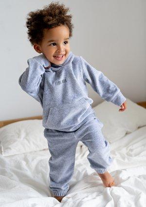 Dziecięce spodnie welurowe Melange ILM
