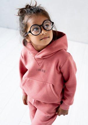 Dziecięca bluza z kapturem Dusty Rose ILM