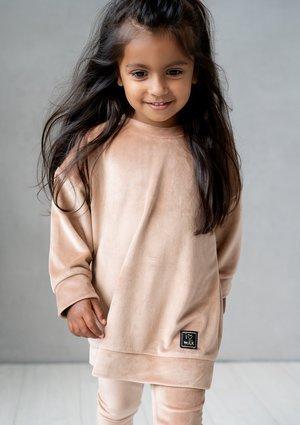 Kids beige velvet sweatshirt