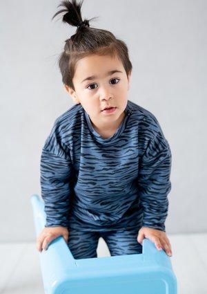 Kids sweatshirt Blue Zebra print