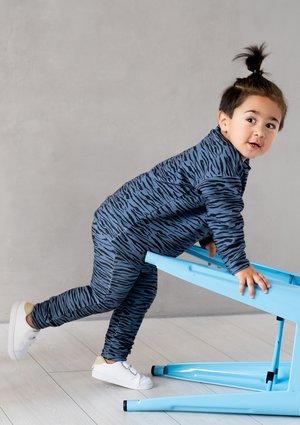 Spodnie dziecięce Blue Zebra print