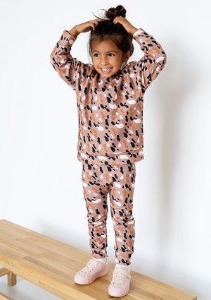 Kids sweatpants Brown Spots print