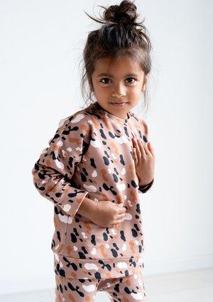 Bluza dziecięca Brown Spots print