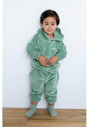 Welurowe spodnie dziecięce Smoke Mint